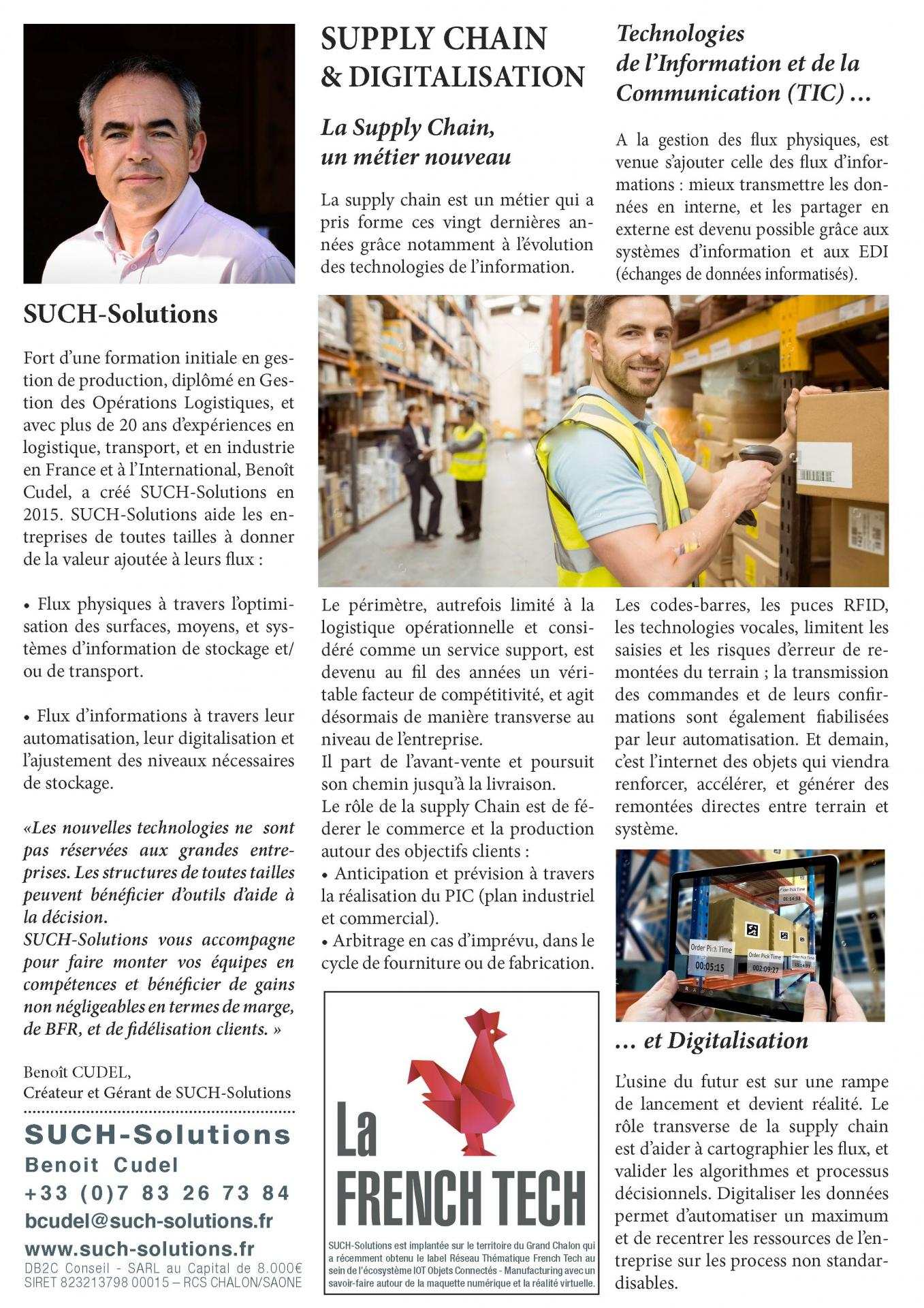 Supply Chain et Digitalisation vu par SUCH-Solutions